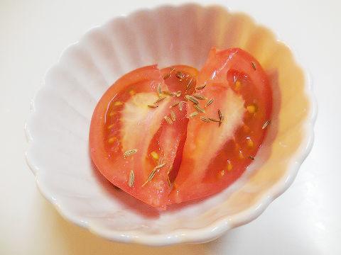 トマトのクミン和え